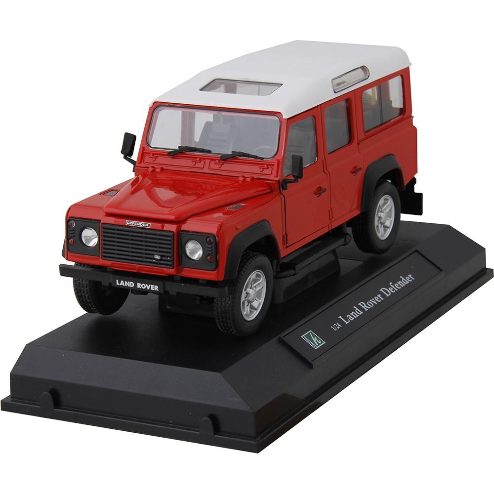 Miniatura em Metal - 1:24 - Land Rover Defender 110 - Vermelha