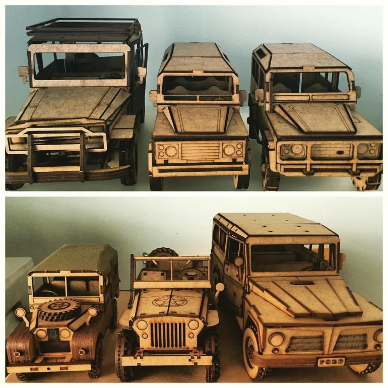 Quebra Cabeças 3D de veículos 4x4! Já conhece?