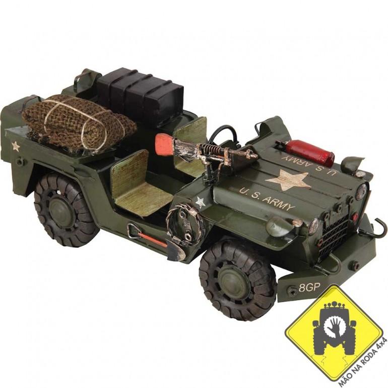 Miniatura Jeep Willys Militar em Metal Latão (Review)