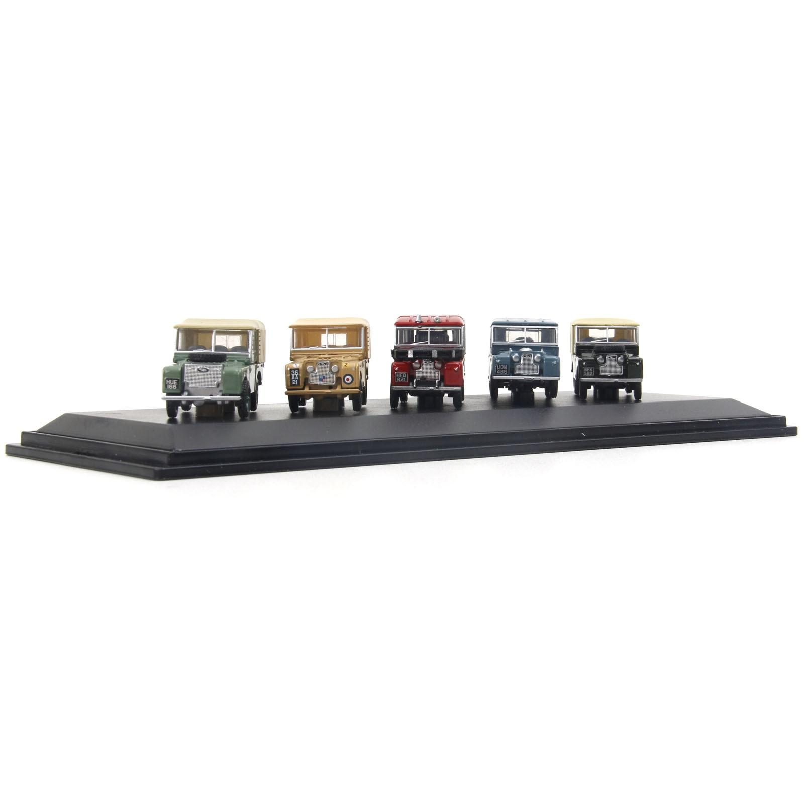 Set de Miniaturas em Metal - 1:76 - Land Rover Series - 5 miniaturas