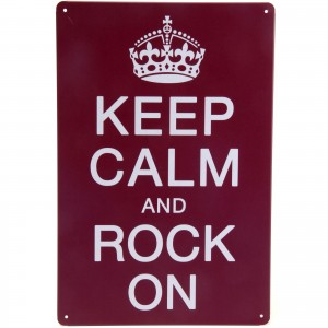 Placa Decorativa - Keep Calm and Rock On