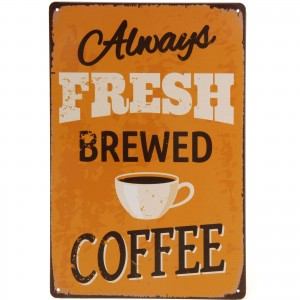 Placa Decorativa - Fresh Coffee