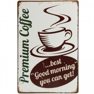 Placa Decorativa - Premium Coffee