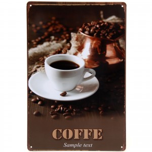 Placa Decorativa - Coffe Sample Text