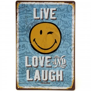 Placa Decorativa - Live Love and Laugh