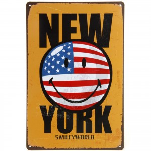 Placa Decorativa - New York Smile