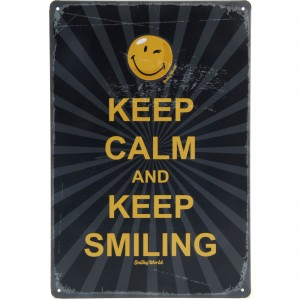 Placa Decorativa - Keep Calm and Keep Smiling