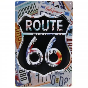 Placa Decorativa - Route US 66 Placas