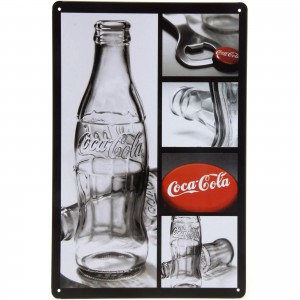 Placa Decorativa - Coca-Cola Botle