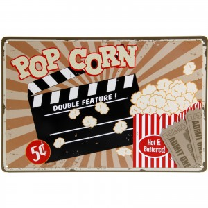 Placa Decorativa - Popcorn
