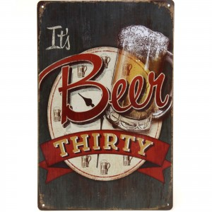 Placa Decorativa - Beer Thirty