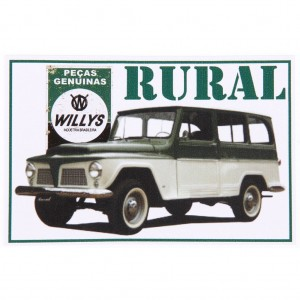 Adesivo - Rural Willys
