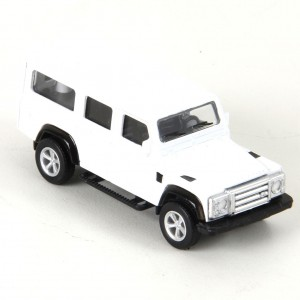 Miniatura em Metal - 1:64 - Land Rover Defender 110-Branco