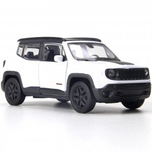 Miniatura - 1:34 - Jeep Renegade Trailhawk - Branco - Welly