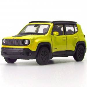 Miniatura - 1:34 - Jeep Renegade Trailhawk - Amarelo - Welly