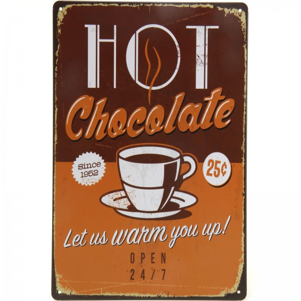 Placa Decorativa - Hot Chocolate