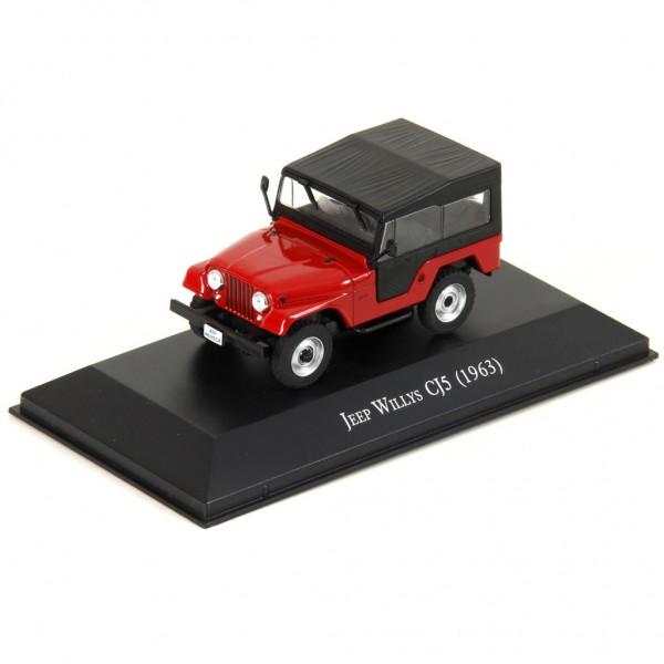 Miniatura em Metal - 1:43 - Jeep Willys CJ5 1963 - Série Carros Inesquecíveis do Brasil