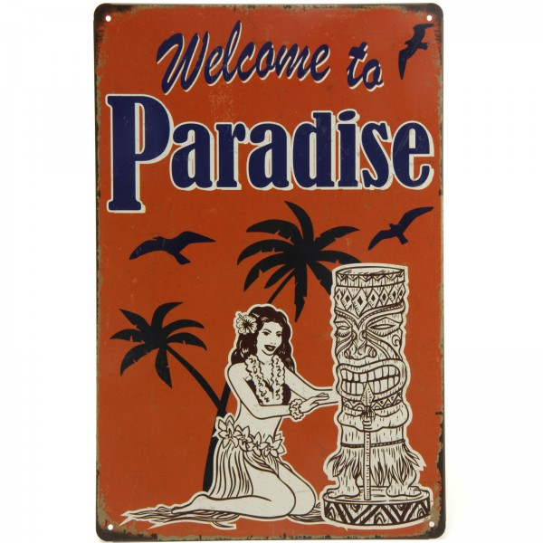 Placa Decorativa - Welcome to Paradise