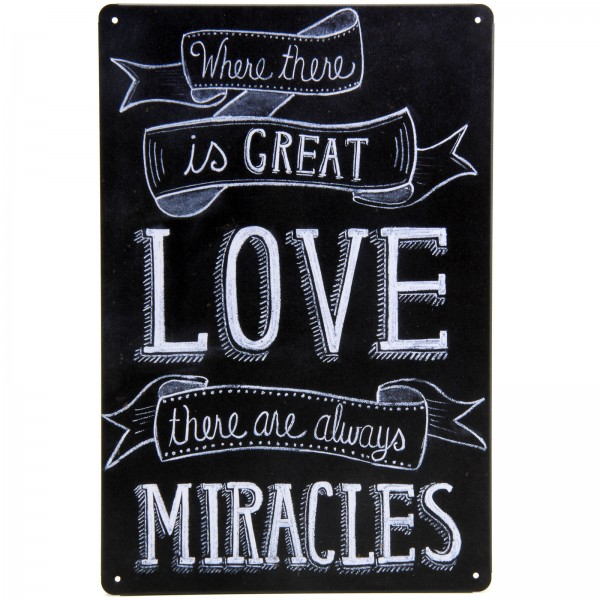 Placa Decorativa - Where There is Great Love...