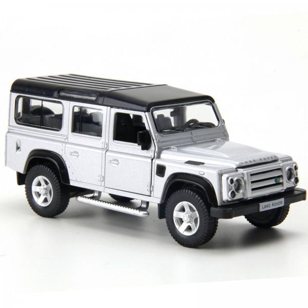 Miniatura em Metal - 1:32 - Land Rover Defender 110 - Prata