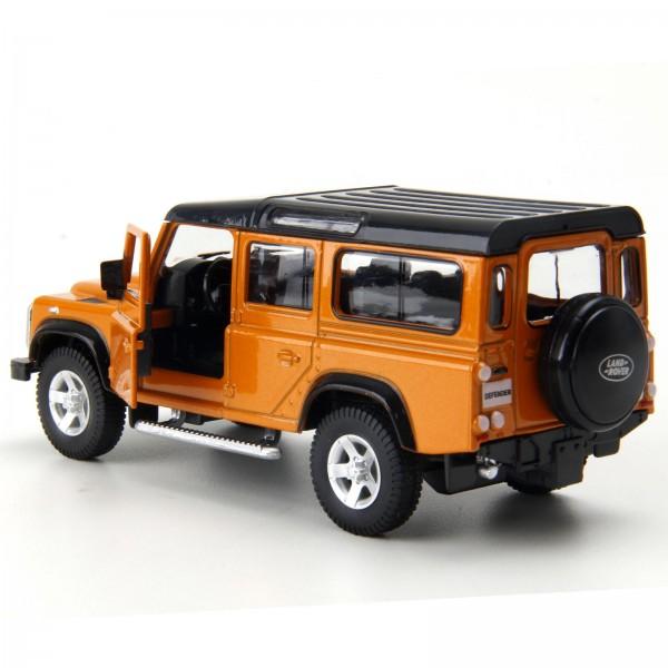 Miniatura em Metal - 1:32 - Land Rover Defender 110 - Laranja