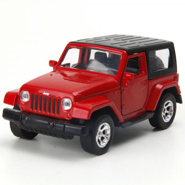Miniatura em Metal - 1:32 - Jeep Wrangler 2014 - Vermelho