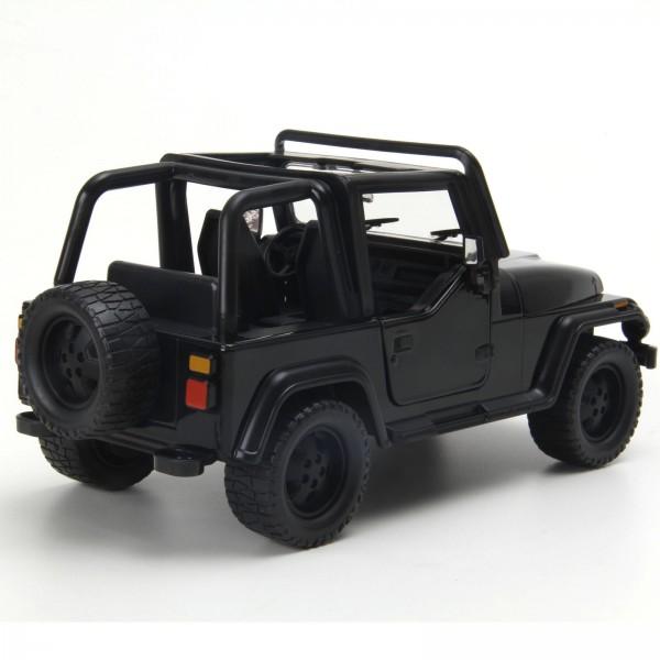 Miniatura em Metal - 1:24 - Jeep Wrangler 1992 - Preto