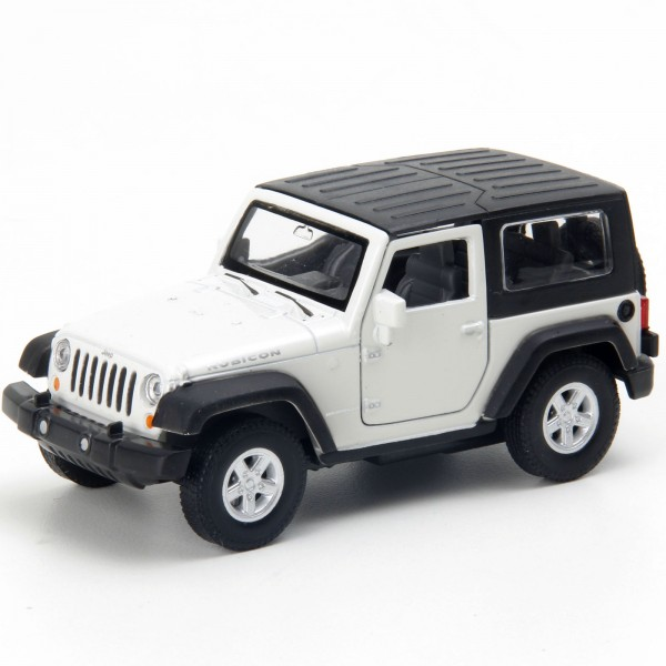 Miniatura - 1:32 - Jeep Wrangler Rubicon - Branco - Welly