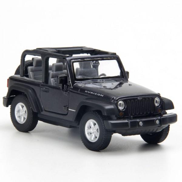 Miniatura - 1:32 - Jeep Wrangler Rubicon Conversível - Preto - Welly