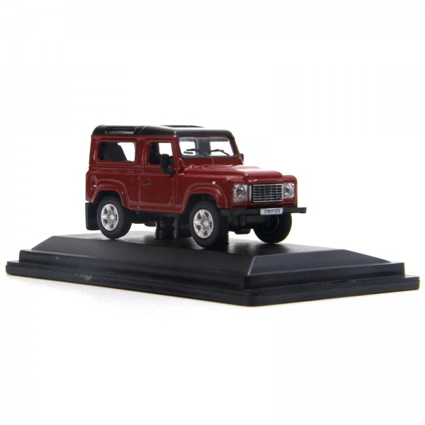 Miniatura em Metal - 1:76 - Land Rover Defender 90 - Firenze Red