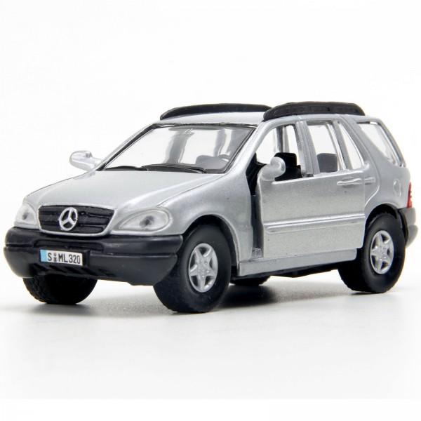 Miniatura em Metal - 1:43 - Mercedes-Benz ML320 - Prata