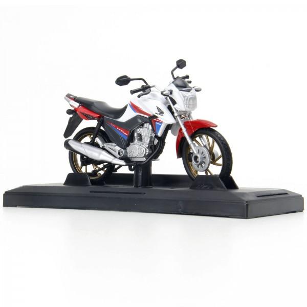 Miniatura em Metal - 1:18 - Moto Honda CG Titan 160