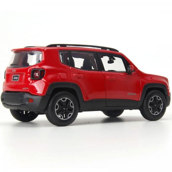 Miniatura - 1:24 - Jeep Renegade Traihawk - Vermelho - Welly