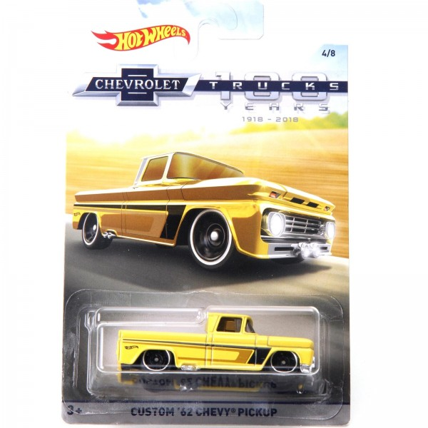Hot Wheels - Custom 62 Chevy Pickup - Chevrolet Trucks 100 Anos - FKD06