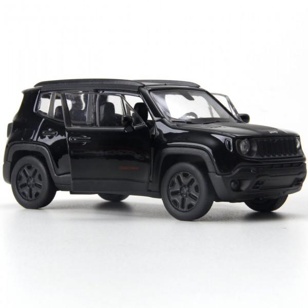 Miniatura em Metal - 1:34 - Jeep Renegade Trailhawk - Preto