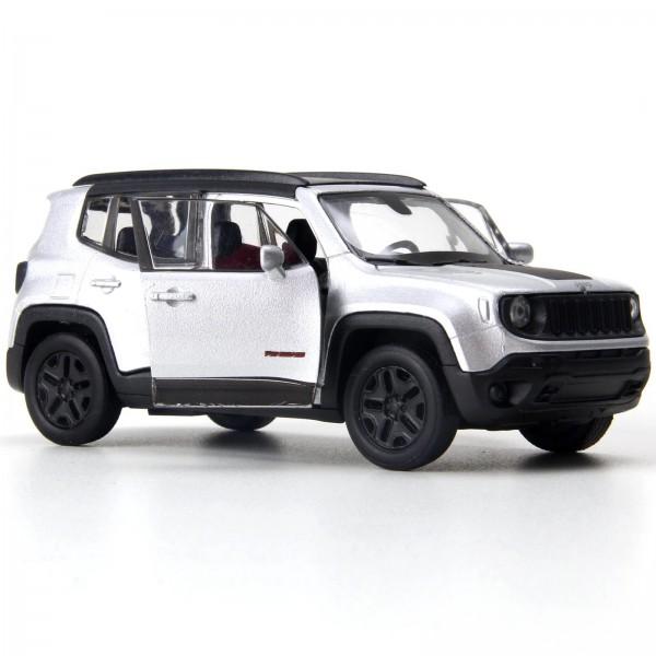 Miniatura em Metal - 1:34 - Jeep Renegade Trailhawk - Prata