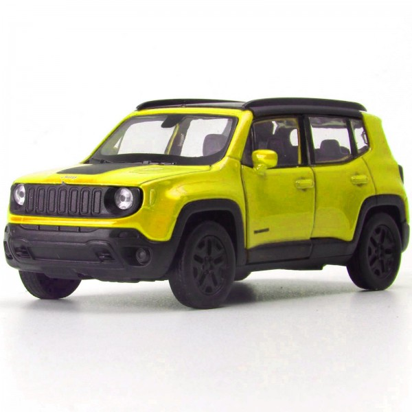 Miniatura - 1:34 - Jeep Renegade Trailhawk - Amarelo - Welly