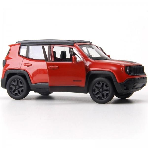 Miniatura - 1:34 - Jeep Renegade Trailhawk - Vermelho - Welly