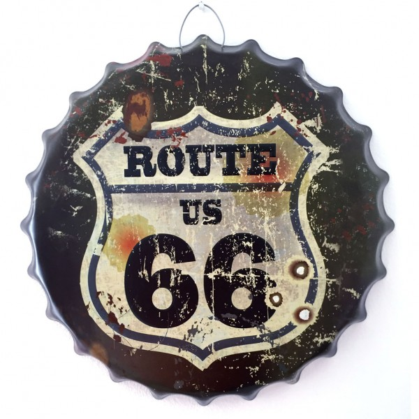 Placa Decorativa Tampa - Route 66