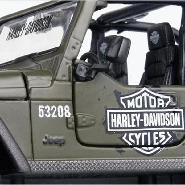 Miniatura - 1:27 - Jeep Wrangler Rubicon - Harley - Davidson - Maisto
