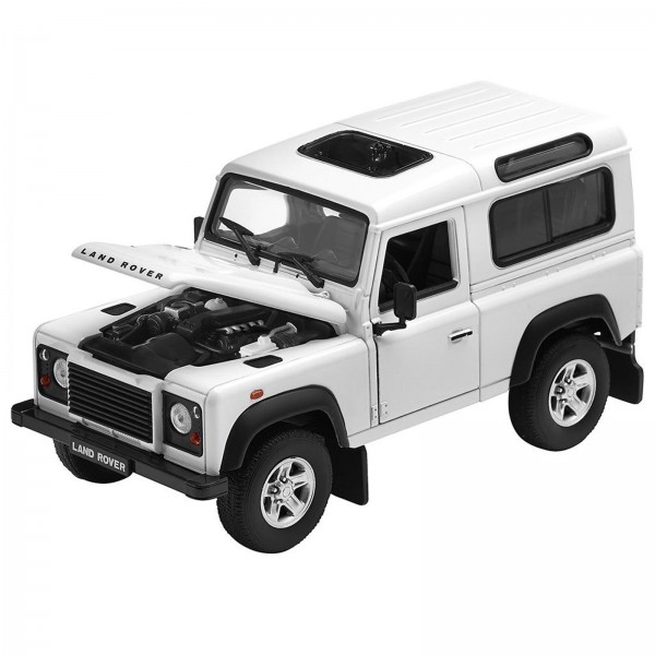 Miniatura - 1:24 - Land Rover Defender 90 - Branco - Welly