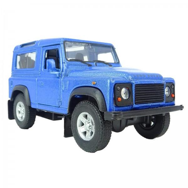 Miniatura em Metal - 1:34 - Land Rover Defender 90 - Azul